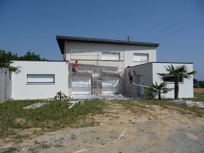 Ravalement de façade 35 Sixt sur Aff – en cours de réalisation